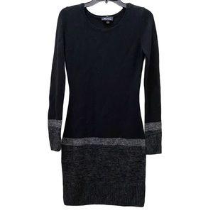 3/$20 BCX colorblock long sleeve sweater dress